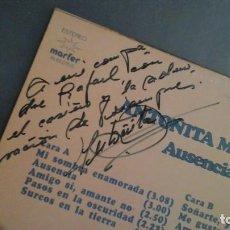 Discos de vinilo: ANTOÑITA MORENO – AUSENCIA LP MARFER – M-66.215-S FIRMADO Y DEDICADO POR ANTOÑITA MORENO. Lote 154218718