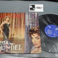 Discos de vinilo: SARITA MONTIEL - BESOS DE FUEGO LP HISPAVOX EDICIÓN ORIGINAL EN MUY BUEN ESTADO. Lote 154218862