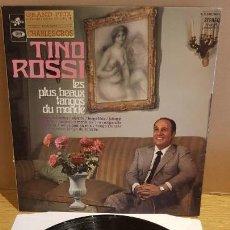 Discos de vinilo: TINO ROSSI / LES PLUS BEAUX TANGOS DU MONDE / LP-GATEFOLD - COLUMBIA-EMI-1967 / MBC. ***/***. Lote 154230402