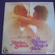 Discos de vinilo: EL ULTIMO TANGO EN PARIS SG UA 1972 - BERTOLUCCI - GATO BARBIERI - MARLON BRANDO - EDICION FRANCESA. Lote 154240146
