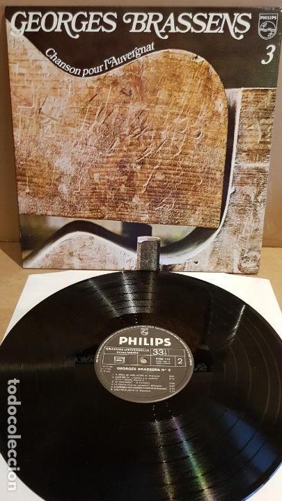 GEORGES BRASSENS / CHANSON POUR LAUVERGNAT / LP GATEFOLD - PHILIPS-FRANCE / CALIDAD LUJO. ****/**** (Música - Discos - LP Vinilo - Canción Francesa e Italiana)