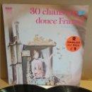 Discos de vinilo: 30 CHANSONS DE LA DOUCE FRANCE / YVETTE GIRAUD-REDA CAIRE / DOBLE LP GATEFOLD / LUJO. ****/****. Lote 154266010