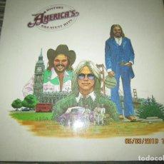 Discos de vinilo: AMERICA - GREATEST HITS LP - ORIGINAL ESPAÑOL - WARNER BROS. RECORDS 1975 CON FUNDA INT. ORIGINAL. Lote 154269426