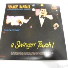 Discos de vinilo: LP. FRANKIE RANDALL. A SWINGIN' TOUCH!. 1972. RCA. Lote 154274518