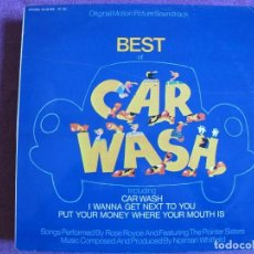 Discos de vinilo: LP - CAR WASH - MUSIC BY NORMAN WHITFIELD (ROSE ROYCE, POINTER SISTERS). Lote 154302370
