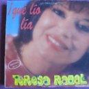 Discos de vinilo: LP - TERESA RABAL - QUE LIO LIA (SPAIN, EDICIONES MUSICALES HISPAMUSIC 1991). Lote 154303598
