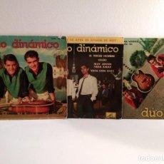 Discos de vinilo: LOTE 3 DISCOS VINILO DE 45 R.P.M. DUO DINÁMICO, VER DESCRIPCIONES Y TÍTULOS. . Lote 154304946