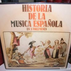 Discos de vinilo: CAJA HISTORIA DE LA MUSICA ESPAÑOLA 3 LP MAS LIBRETO - SIN ABRIR NUEVA DE HISPAVOX. Lote 154305802