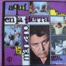 Discos de vinilo: LP - AQUI, EN LA TIERRA - M. MANZANO (EDICIONES PAULINAS 1970, PORTADA DOBLE). Lote 154306206