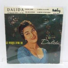 Discos de vinilo: EP ** DALIDA ** PASSION FLOWER - LA MARCHA DE LOS NIÑOS *COVER/ EXCELLENT *EP/ EXCELLENT / NM* 1960. Lote 154319446