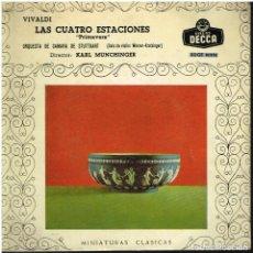 Discos de vinilo: ORQUESTA DE CAMARA DE STUTTGART - VIVALDI LAS CUATRO ESTACIONES - EP 1960. Lote 154322382