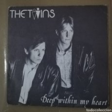 Discos de vinilo: THE TWINS - DEEP WITHIN MY HEART. Lote 154322426
