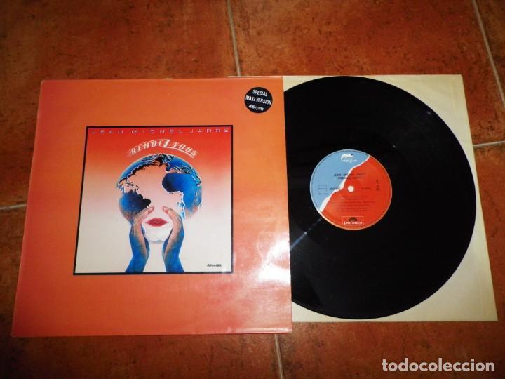 JEAN MICHEL JARRE RENDEZ VOUS MAXI SINGLE VINILO 1986 ESPAÑA 2 TEMAS RARO (Música - Discos de Vinilo - Maxi Singles - Pop - Rock Internacional de los 90 a la actualidad)