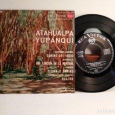 Discos de vinilo: DISCO VINILO DE 45 R.P.M. DE ATAHUALPA YUPANQUI CON 4 TEMAS QUE CITO. Lote 154331774
