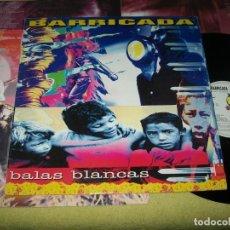 Discos de vinilo: BARRICADA - BALAS BLANCAS - LP DE POLYGRAM - 1992 -MERCURY COMPLETO - INCLUYE LETRAS. Lote 154336054