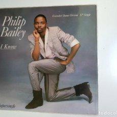Discos de vinilo: PHILIP BAILEY - I KNOW (VINILO). Lote 154369726