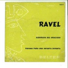 Discos de vinilo: RAVEL. ALBORADA DEL GRACIOSO.-PAVANA PARA UNA INFANTA DIFUNTA. . Lote 154371426