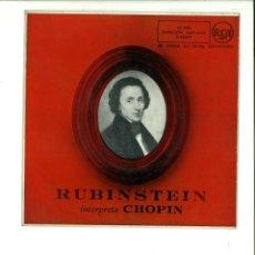 Discos de vinilo: RUBINSTEIN INTERPRETA A CHOPIN.. Lote 154372262