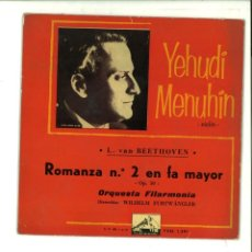 Discos de vinilo: YEHUDI MENUHIN. L. VAN BEETHOVEN. ROMANZA Nº 2 EN FA MAYOR.. Lote 154372666