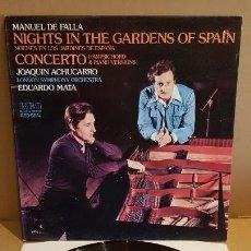 Discos de vinilo: JOAQUÍN ACHUCARRO-EDUARDO MATA / MANUEL DE FALLA / LP GATEFOLD-RCA-RED SEAL / LUJO. ****/****. Lote 154378630
