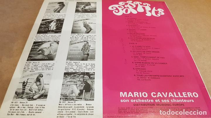 Discos de vinilo: MARIO CAVALLERO / HIT PARADE CHANTE-POP HITS / LP-MUSIDISC-FRANCE / / LUJO. ****/**** - Foto 2 - 154379606