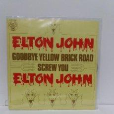 Discos de vinilo: SINGLE ** ELTON JOHN ** GOODBYE YELLOW BRICK ROAD *COVER/ NEAR MINT *SINGLE/ NEAR MINT /MINT *1973. Lote 154380254