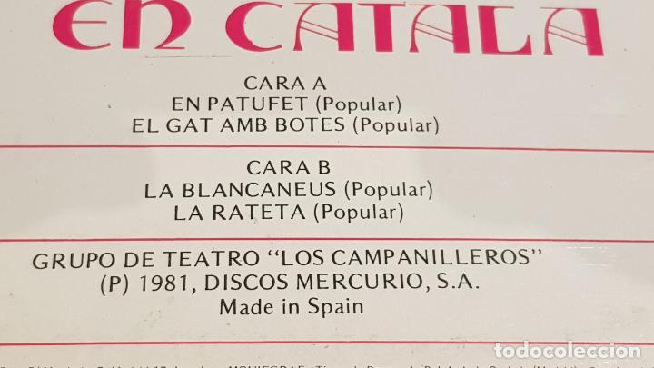 Discos de vinilo: GRUPO DE TEATRO LOS CAMPANILLEROS / CONTES EN CATALÀ / LP-MUSIVOX-1981 / MBC. ***/*** - Foto 3 - 154381074