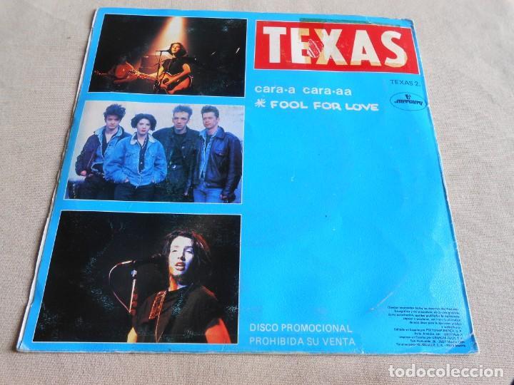 Discos de vinilo: TEXAS, SG, FOOL FOR LOVE + 1, AÑO 1990 PROMO - Foto 2 - 154381182