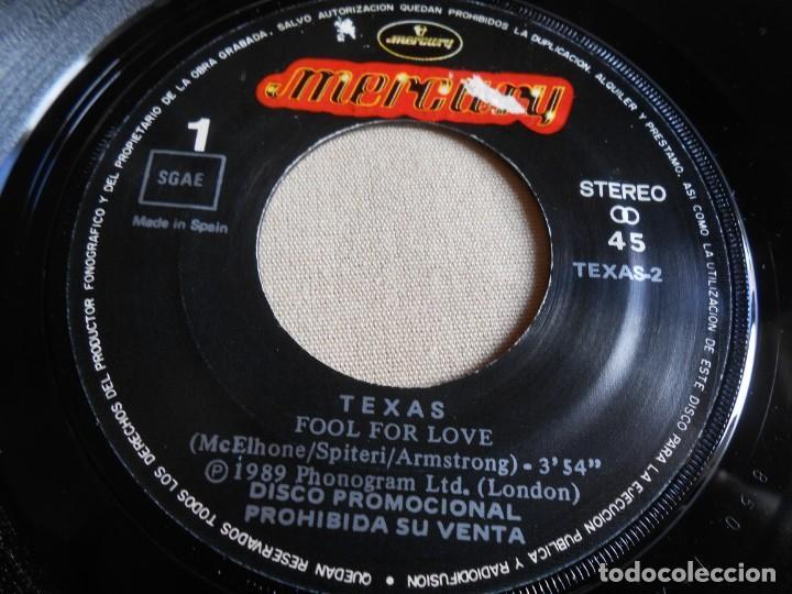 Discos de vinilo: TEXAS, SG, FOOL FOR LOVE + 1, AÑO 1990 PROMO - Foto 3 - 154381182