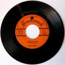 Discos de vinilo: JACKIE WILSON - ALONE AT LAST / AM I THE MAN - SINGLE BRUNSWICK 1960 USA BPY. Lote 154381778