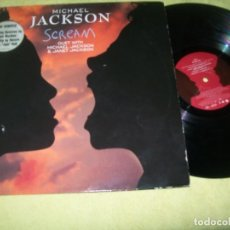 Discos de vinilo: MICHAEL JACKSON DUET JANET JACKSON - SCREAM - MAXISINGLE DE 1995 - 6 VERSIONES , REMEZCLAS ETC. Lote 154387470