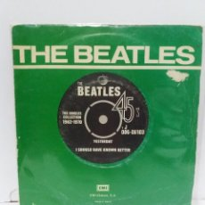 Discos de vinilo: SINGLE ** THE BEATLES ** YESTERDAY - I SHOULD HAVE KNOWN BETTER *COVER/ VG+ *SINGLE/ NEAR MINT *1976. Lote 154388710