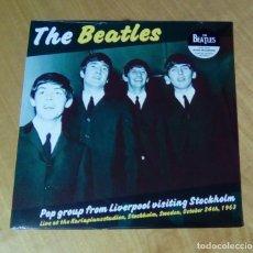 Discos de vinilo: THE BEATLES - POP GROUP FROM LIVERPOOL VISITING STOCKHOLM (LP 2017, WAX LOVE WLV82034) PRECINTADO. Lote 154389494