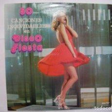 Discos de vinilo: ANTIGUO DISCO LP VINILO - 50 CANCIONES INOLVIDABLES EN DISCO FIESTA. Lote 156811176