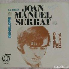 Discos de vinilo: JOAN MANUEL SERRAT (PENELOPE - LA FIESTA - TIEMPO DE LLUVIA) EP PORTUGAL RODA. Lote 154400054