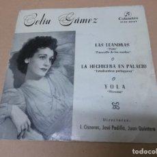 Discos de vinilo: CELIA GAMEZ (EP) LAS LEANDRAS AÑO 1960. Lote 154480726