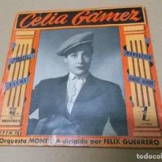 Discos de vinilo: CELIA GAMEZ (EP) TABACO Y CERILLAS AÑO 1957. Lote 154480878