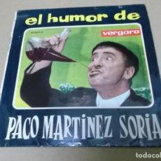 Discos de vinilo: PACO MARTINEZ SORIA (EP) EL TARTAJA AÑO 1963. Lote 154485278
