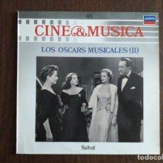 Discos de vinilo: DISCO VINILO LP CINE & MÚSICA, LOS OSCARS MUSICALES II, SALVAT AÑO 1988. Lote 154488858