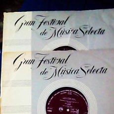 Discos de vinilo: 2 LPS DE MÚSICA SELECTA (AÑO 1961). Lote 154498206