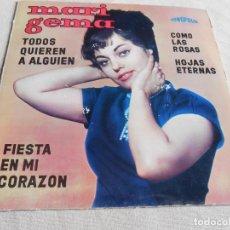 Discos de vinilo: MARI GEMA, EP, TODOS QUIEREN A ALGUIÉN + 3, AÑO 1964. Lote 154506606