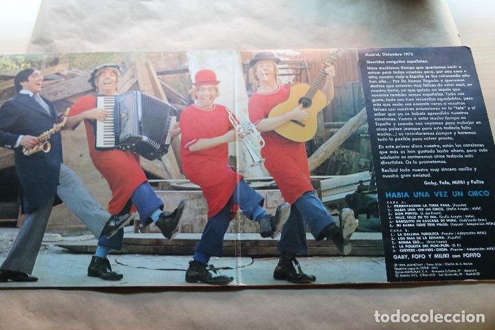 Discos de vinilo: HABÍA UNA VEZ UN CIRCO, GABY, FOFO Y MILIKI, VINILO, LP, DISCOS MOVIEPLAY, AÑO 1973 - Foto 2 - 154523994