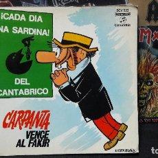 Discos de vinilo: CARPANTA VENCE AL FAKIR CON COMIC BUEN ESTADO. Lote 154557426