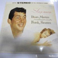 Discos de vinilo: LP. DEAN MARTIN. FRANK SINATRA. SLEEP WARM. 1985. EMI. Lote 154593206