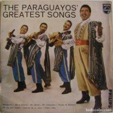 Discos de vinilo: LUIS ALBERTO DEL PARANA Y SU TRIO LOS PARAGUAYOS-THE PARAGUAYOS' GREATEST SONGS. Lote 154596966