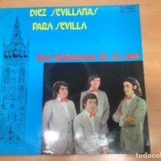 Discos de vinilo: LP LOS FLAMENCOS DE LA ISLA / DIEZ SEVILLANAS PARA SEVILLA EDITADO POR GMA 1973. Lote 154622874