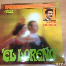 Discos de vinilo: LP PEPE NUÑE EL LOREÑO EDITADO POR EKIPO 1968. Lote 154629142