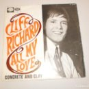 Discos de vinilo: SINGLE CLIFF RICHARD. ALL MY LOVE. CONCRETE AND CLAY. EMI 1968 SPAIN (PROBADO Y BIEN, SEMINUEVO). Lote 154641370