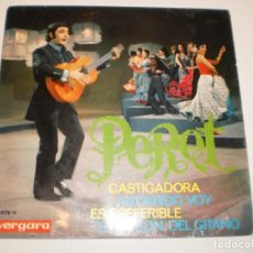 Discos de vinilo: SINGLE PERET CASTIGADORA. ANDANDO VOY. ES PREFERIBLE. EL MESÓN DEL GITANO. VERGARA 1969 SPAIN . Lote 154641986