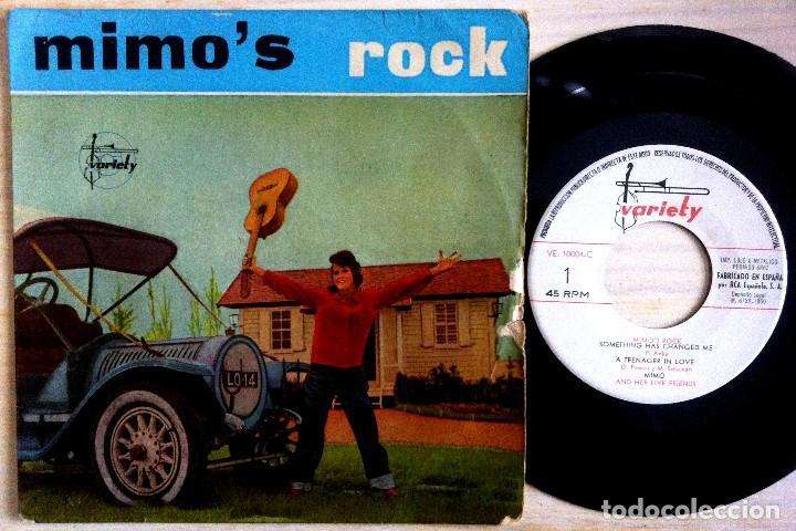 MIMO (AND HER FIVE FRIENDS) - MIMO´S ROCK - SOMETHING HAS CHANGED...EP ESPAÑOL 1960 - VARIETY (Música - Discos de Vinilo - EPs - Grupos Españoles 50 y 60)